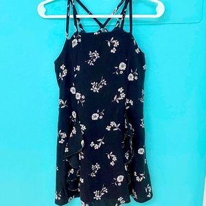 Girls TRULY ME Black & White Floral Print Dress -4